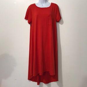 LuLaRoe women asymmetrical dress size M color Red